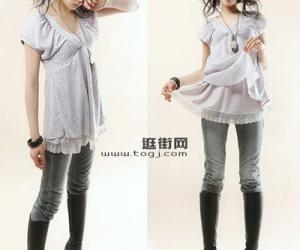 韩国裙式长衫超级显瘦单品