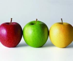 不同颜色苹果 养生功效大不同